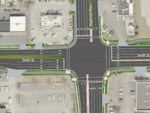 Image: South Street Intersection Rendering